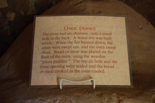 Horno - Oven Description