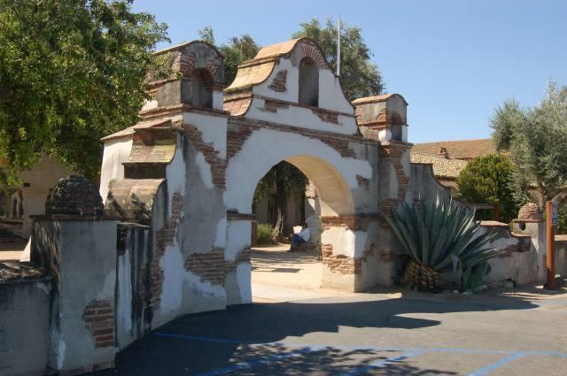 Mission San Miguel Arcangel yard Gate