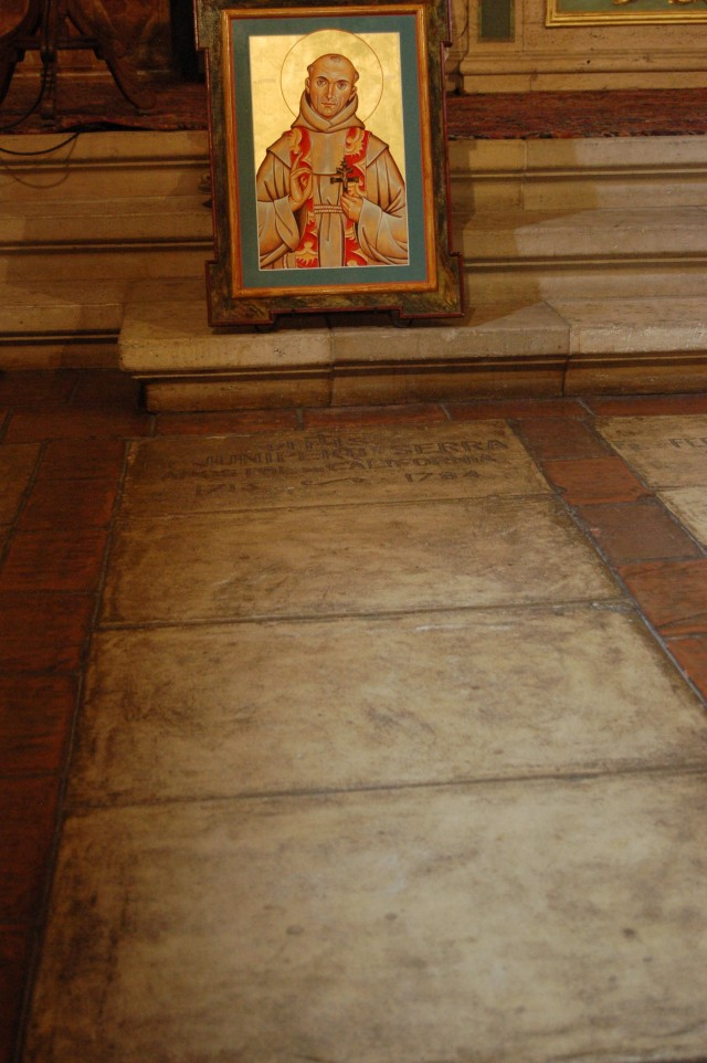 Fra Juniper Serra final resting place at Mission San Carlos Borromeo de Carmelo