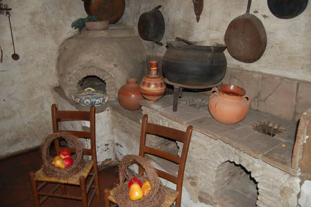 Two burner stove with oven made of mud and bricks