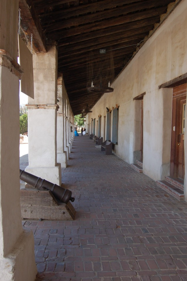 Quince Anos at Mission San Miquel under walkway