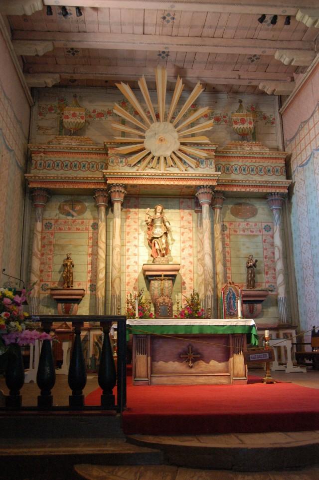 Inside Mission San Miquel