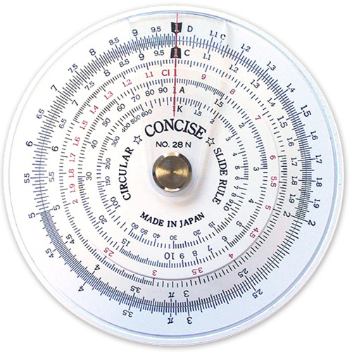 Concise Circular Slide Rule No. 28N
