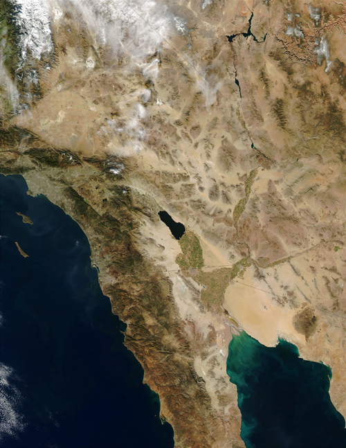 Colorado River dumping into the Gulf of California in Baja California, Mex