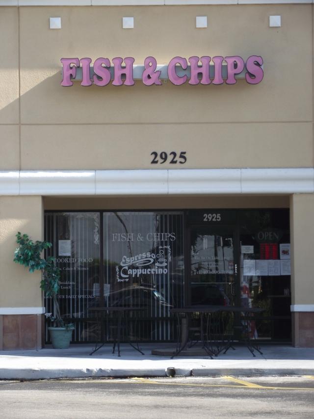 Grandma's Kitchen Fish & Chips near Disneyworld, Florida