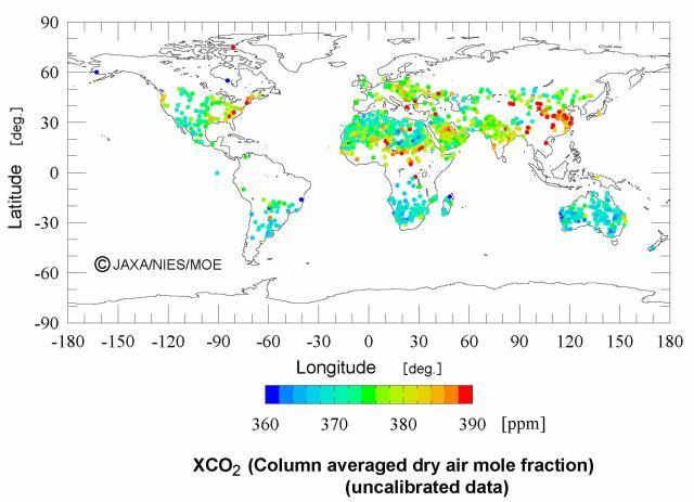 Jaxa CO2 20090829_ibuki_1Le