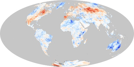 Surface Temp Anomaly Oct 2011