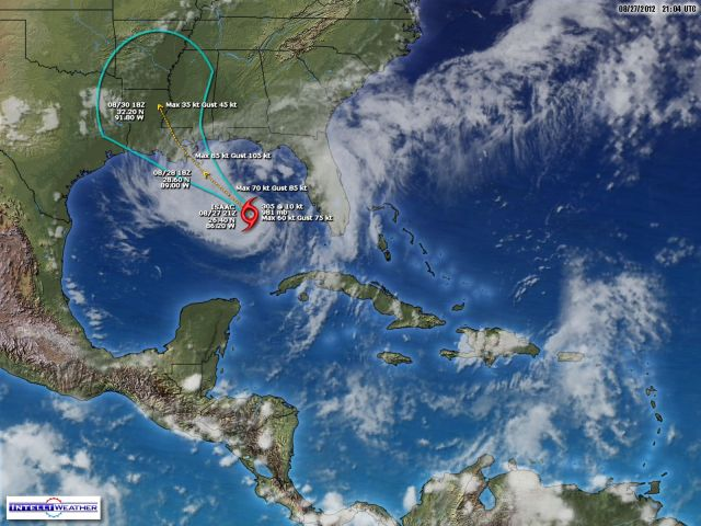 Yesterday, 27 Aug 2012 Hurricane Isaac