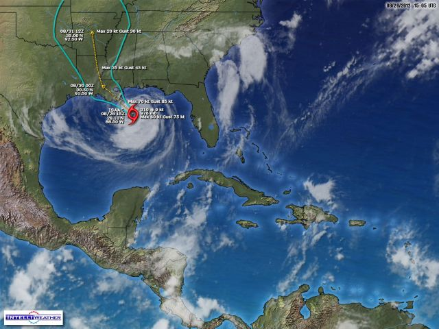 Hurricane Isaac today, 28 Aug 2012
