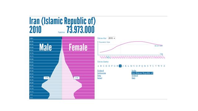 Iran Population Pyramid