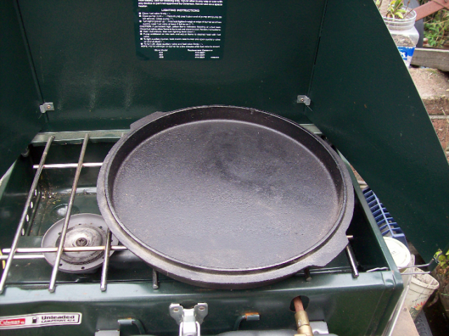 Camp Chef lid as Frying Pan