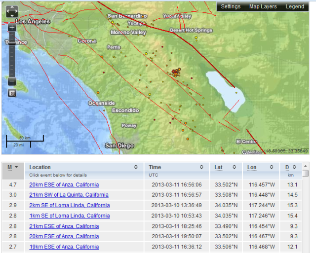 Quakes L.A. Area 11 Mar 2013 about 5:30 pm PST