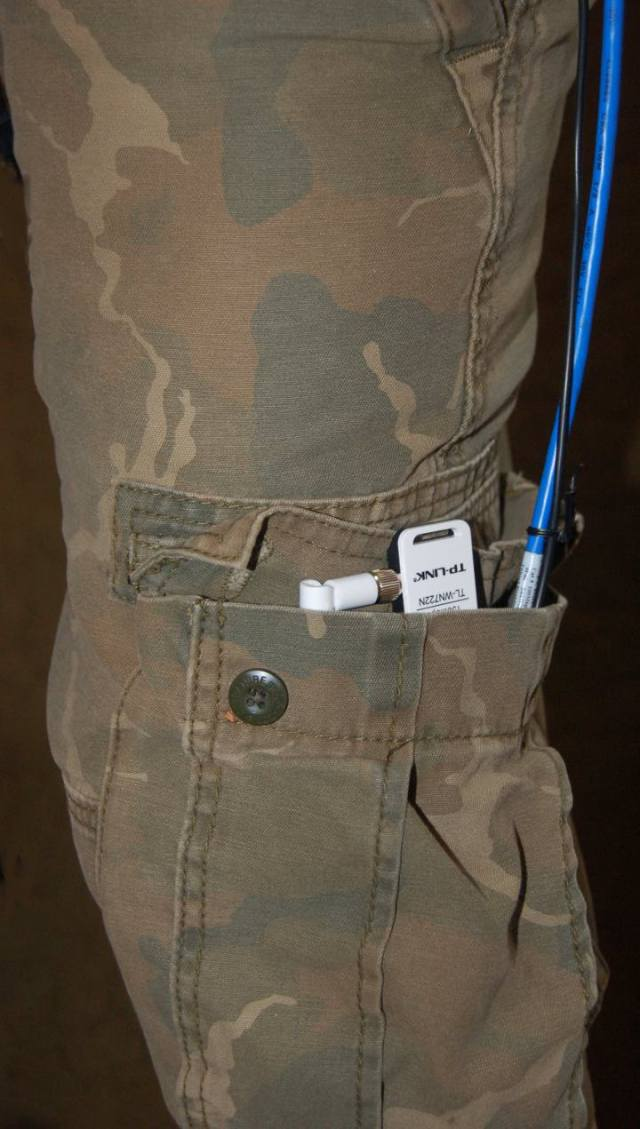 Dongle Pi in Cargo Pants Pocket