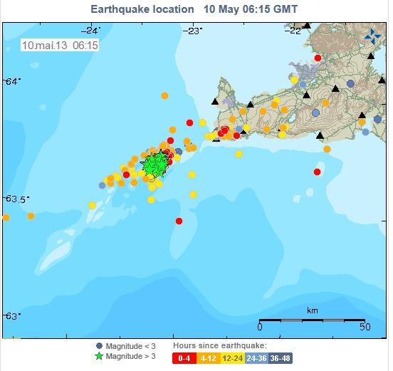 Iceland Quakes 9 May 2013