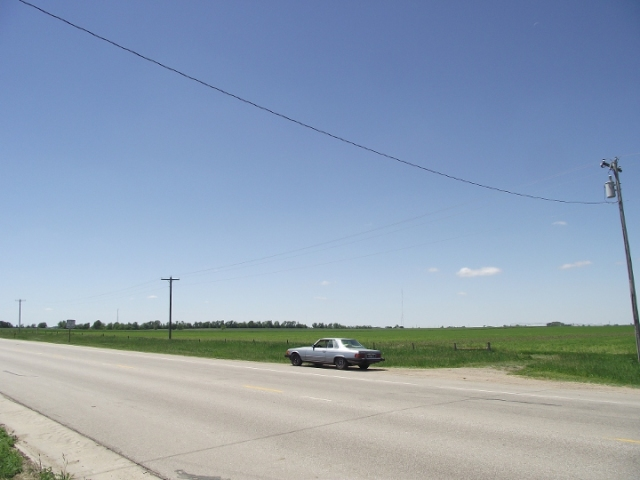 """Nebraska just after lunch and """"my ride"""" ;-)"""