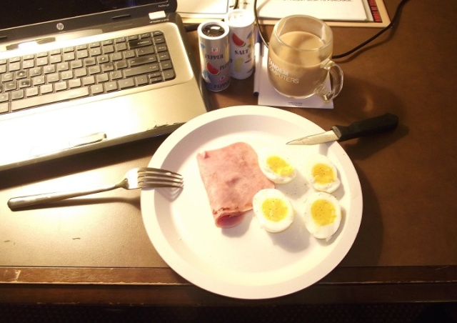 Presentation of Ham and Eggs
