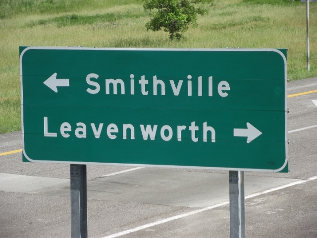 """It's Smithville or """"the other way""""..."""