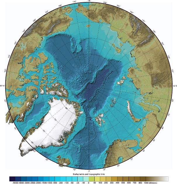 Arctic Ocean Bathymetry