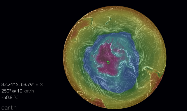 South Pole temperature 22Oct2014