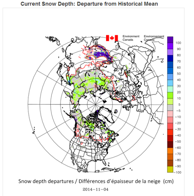 Canadian view of Global Snow 4 Nov 2014