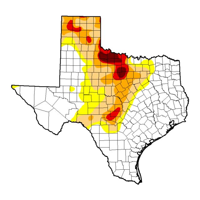 Texas Drought Index April 2015