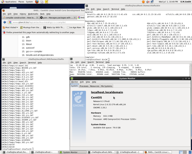 Dev Tools Install finishes on CentOS