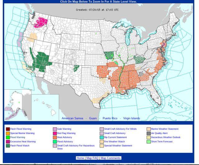 Flood Hazards in California July 20 2015