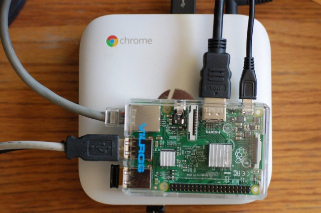 Finished Raspberry Pi Model 2 on Chromebox