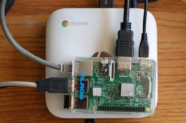 Finished Raspberry Pi Model 2 on Chromebox