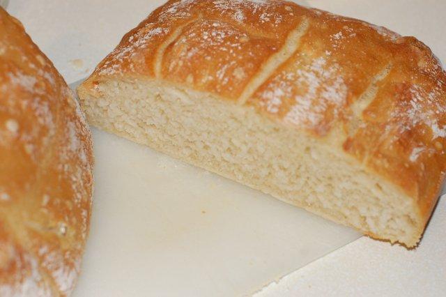 Nice Artisan No Knead Bread view of crumb