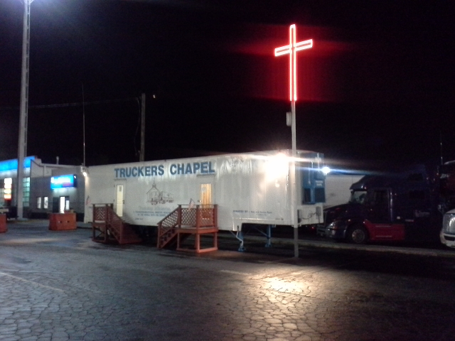 Trucker's Chapel at a truck stop at the Georgia Florida border