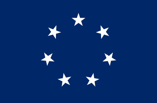 Flag One - circle of white stars on a blue field