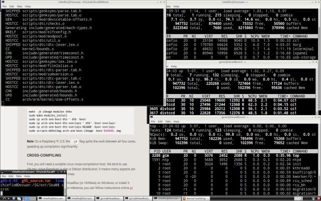 First distcc build on Devuan Cluster Screen Shot
