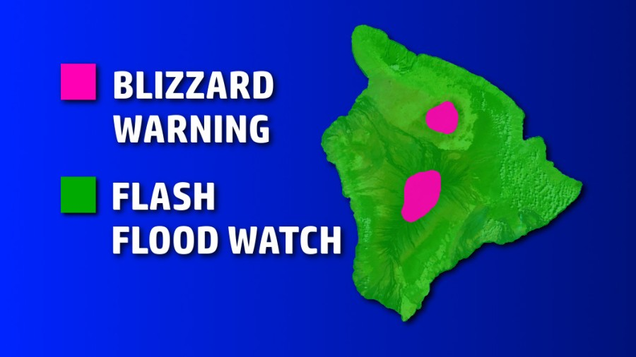 Hawaii Blizzards and Flash Floods