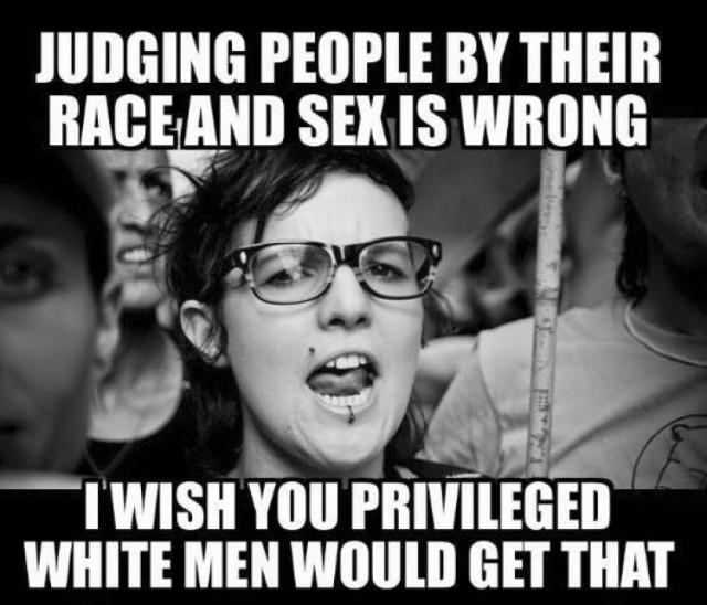 Race, Sex, and White Men Meme