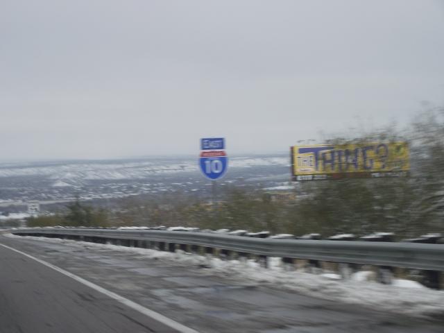 I-10 in snow