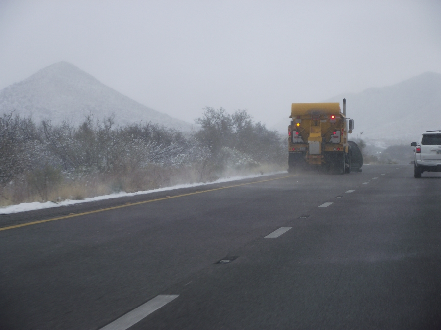 New Mexico snow plough I-10