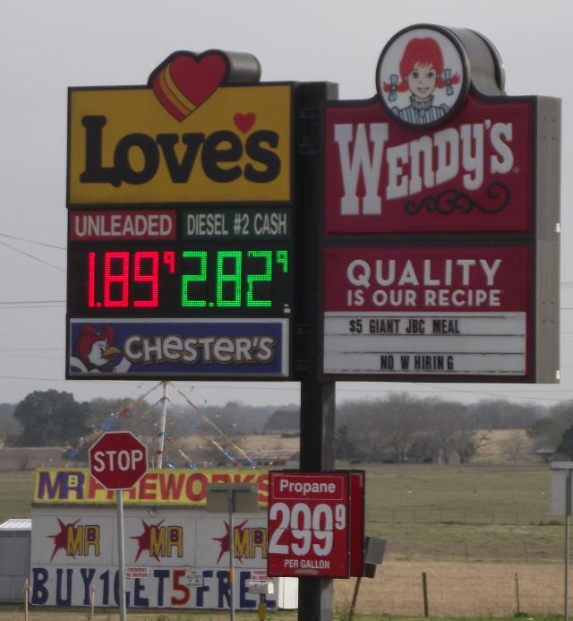 Texas Gasoline Jan 2019
