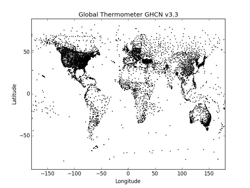 GHCN v3.3 from the MySQL database