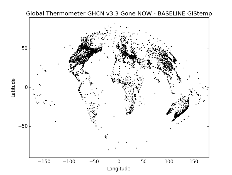 GHCN v3.3 stations present in the Baseline but missing in the final year