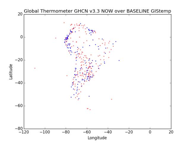 Region 3 - South America Now Over Baseline GHCN v3.3