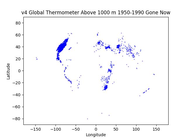 GHCN v4 1000m Altitude In 1950-1990, Gone Now