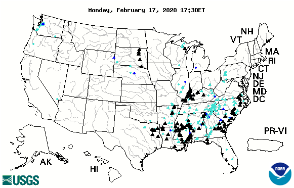 Flooding Map 17 Feb 2020