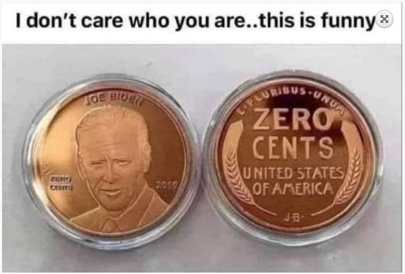 Biden Zero Cents Coin
