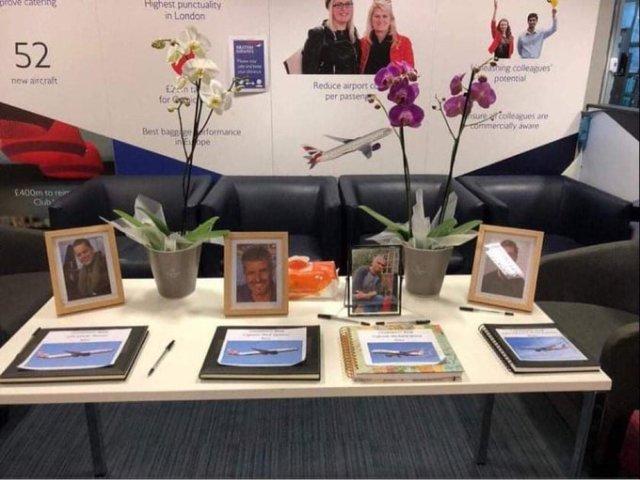 Memorial Display To 4 Dead Pilots